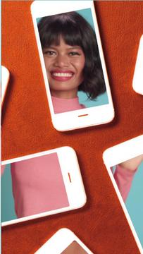 Phone Screens with Dancing Girl