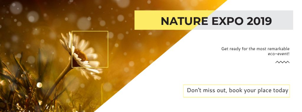 Nature Expo Announcement with Blooming Daisy Flower — Crear un diseño