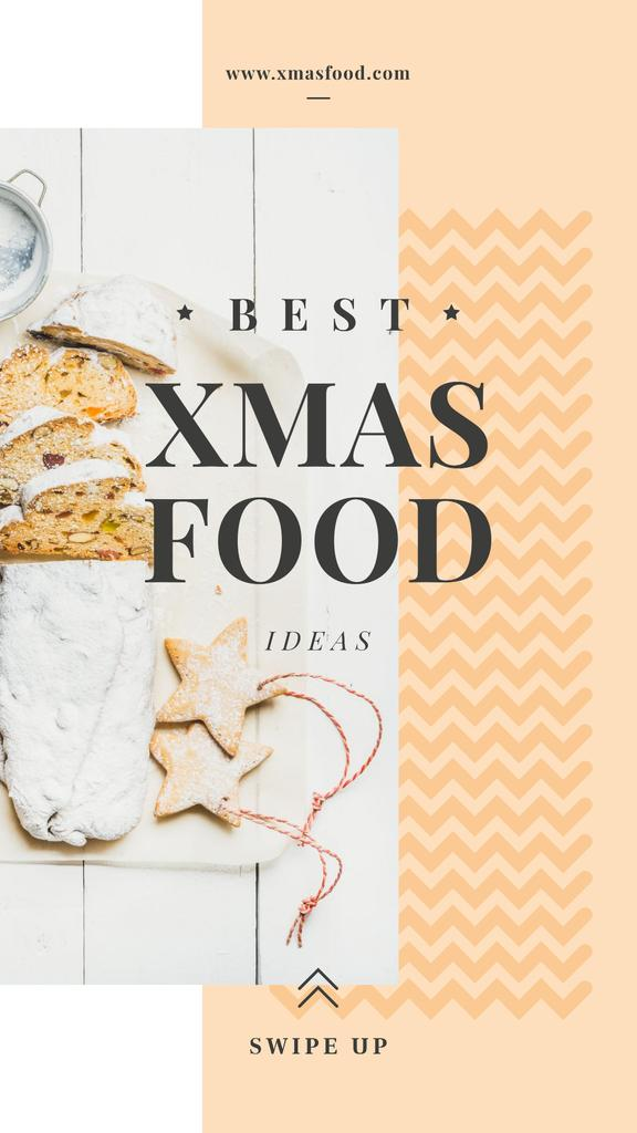 Christmas ginger cookies and stollen — Crear un diseño