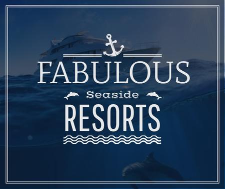 Template di design Seaside Resorts Promotion Ship in Sea Facebook