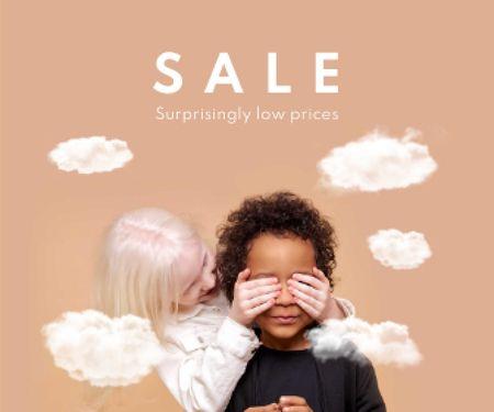 Cute little Multiracial Kids Large Rectangle – шаблон для дизайну