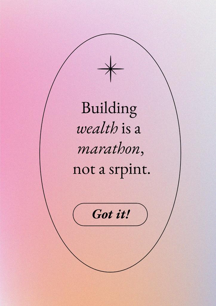 Plantilla de diseño de Wealth Inspirational Quote Poster