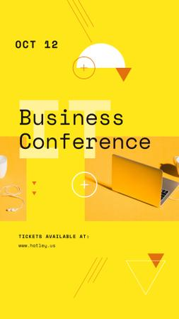 Business Conference Announcement with Laptop Instagram Story – шаблон для дизайна