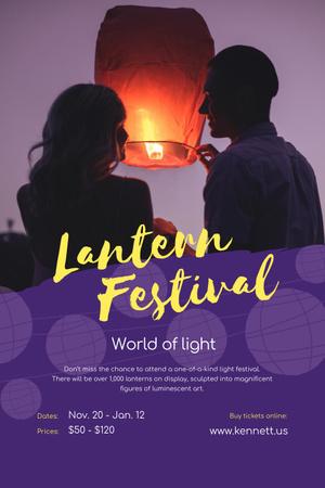 Plantilla de diseño de Lantern festival Pinterest