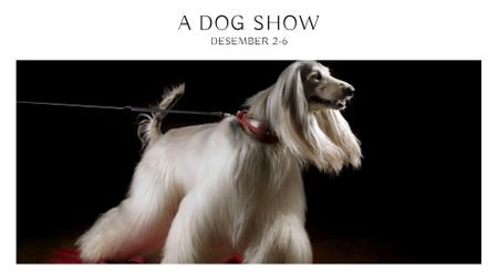 Plantilla de diseño de Dog show Announcement FB event cover