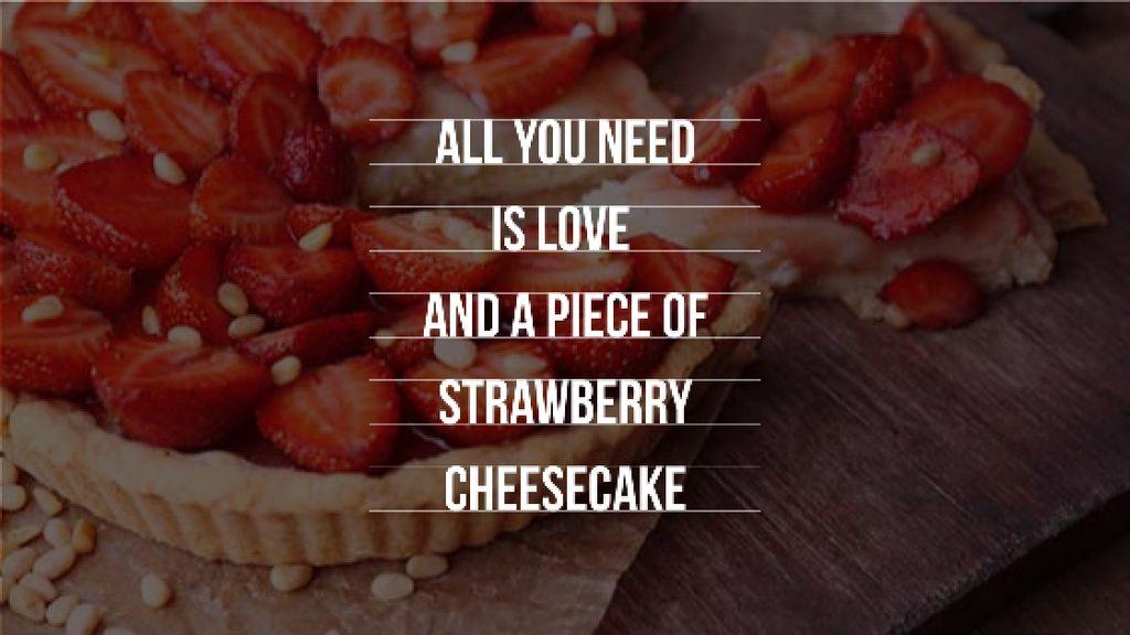 Delicious Strawberry Cheesecake Title Tasarım Şablonu