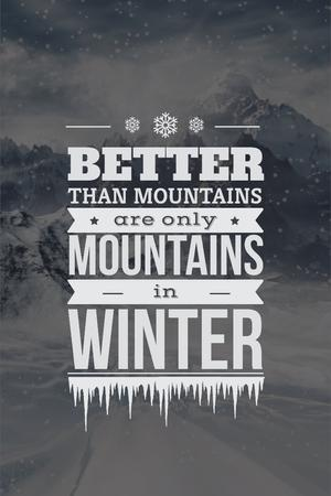Ontwerpsjabloon van Pinterest van Winter holiday in mountains
