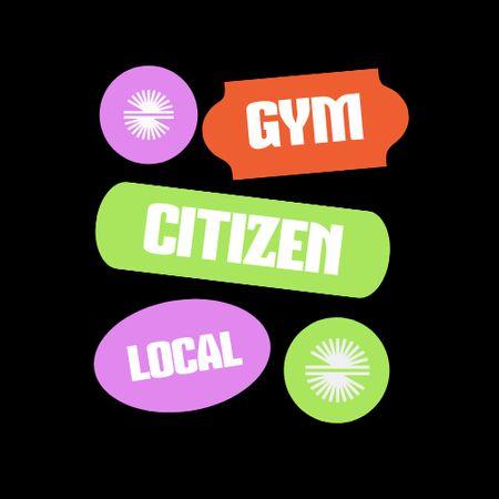 Local Gym Services Ad Logo – шаблон для дизайну