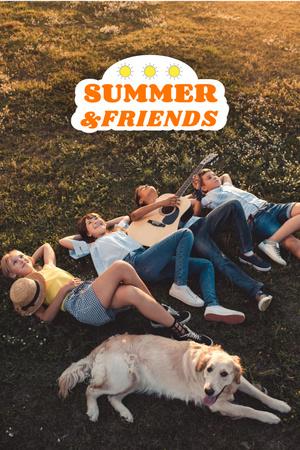 Plantilla de diseño de Summer Inspiration with Friends near Tree Pinterest