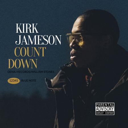 Ontwerpsjabloon van Album Cover van Man wearing Sunglasses at Night