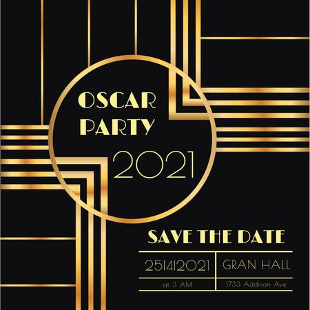 Ontwerpsjabloon van Instagram AD van Annual Academy Awards party invitation