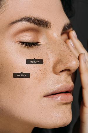 Plantilla de diseño de Young Woman with Clean Face Pinterest