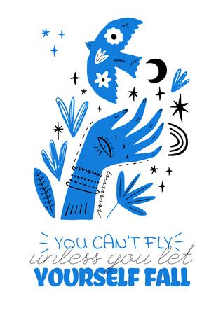 Modèle de visuel Mental Health Inspiration with abstract illustration - Poster