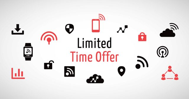 Gadgets Offer with Network Icons Facebook AD Tasarım Şablonu