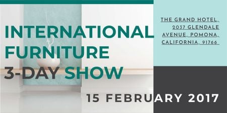 International furniture show Imageデザインテンプレート
