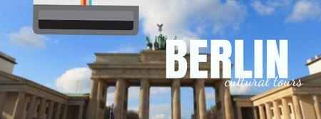 Modèle de visuel Berlin famous travelling spot - Facebook Video cover