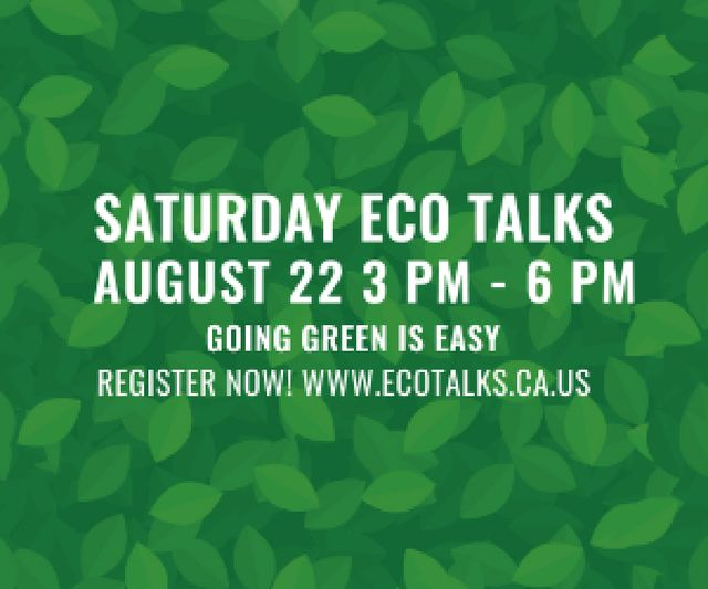 Szablon projektu Saturday eco talks  Medium Rectangle