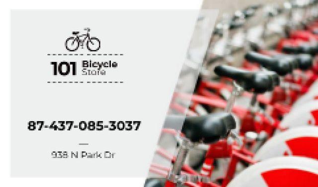 Bicycle Store Ad in Red Business card Tasarım Şablonu