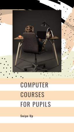 Plantilla de diseño de Computer Courses for Pupils Offer Instagram Story