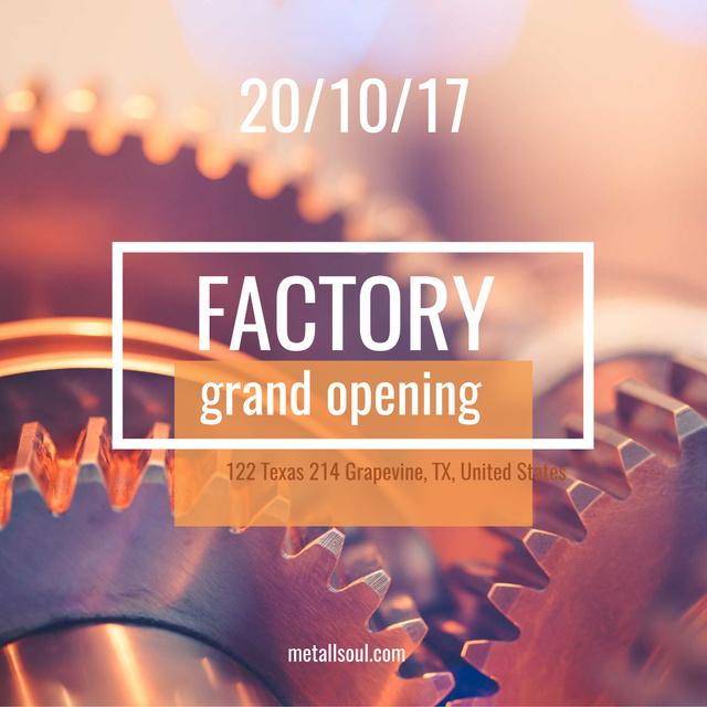 Plantilla de diseño de Factory grand opening with Gears Instagram