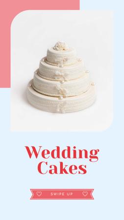 Wedding offer big White Cake Instagram Story – шаблон для дизайну