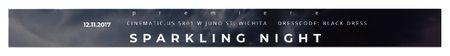 Plantilla de diseño de Sparkling night event Leaderboard