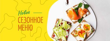 Assorted delicious Toasts menu Facebook cover – шаблон для дизайна