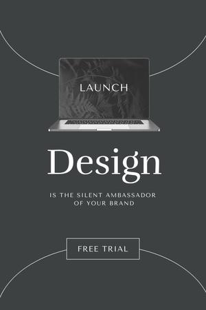 Modèle de visuel App Launch Announcement with Laptop Screen - Pinterest
