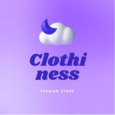 Designvorlage Fashion Store Ad with Moon and Cloud Illustration für Logo