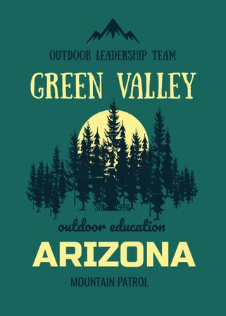 Szablon projektu Outdoor education program with Green Forest Flayer
