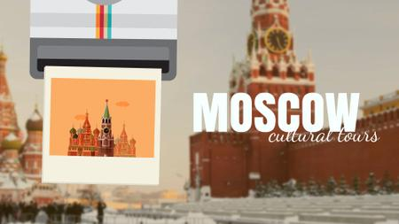 Designvorlage Tour Invitation with Moscow Red Square für Full HD video