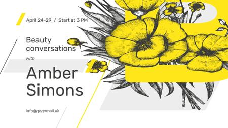 Plantilla de diseño de Beauty Event announcement on tender Spring Flowers FB event cover