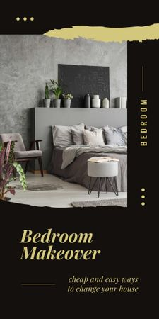 Cozy interior for Bedroom Makeover Graphic Tasarım Şablonu
