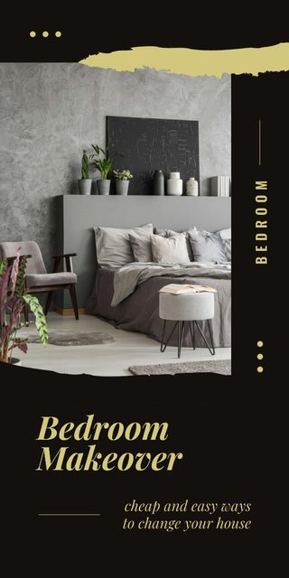 Plantilla de diseño de Cozy interior for Bedroom Makeover Graphic