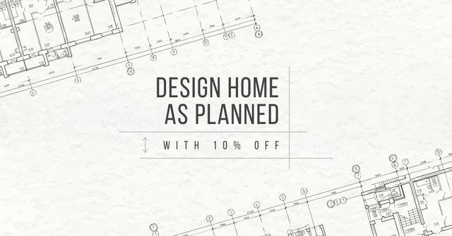 Design camp announcement on blueprint Facebook AD – шаблон для дизайну