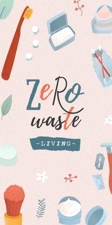 Modèle de visuel Zero Waste Concept with Eco Products - Graphic