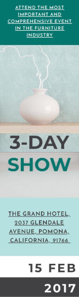 Home Decor Ad Vase in Blue — ein Design erstellen