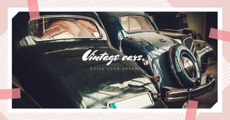 Template di design Shiny vintage cars Facebook AD