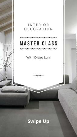 Interior Decoration Masterclass Announcement Instagram Story Modelo de Design