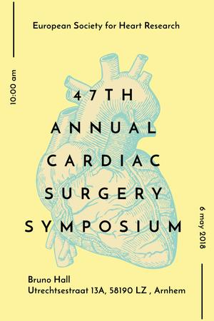 Ontwerpsjabloon van Pinterest van Annual cardiac surgery symposium