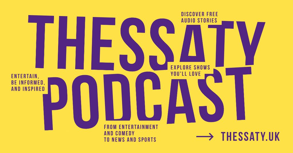 Radio Podcast Ad Inscription on Yellow — Створити дизайн