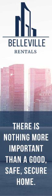 Belleville rentals advertisement Skyscraper Design Template