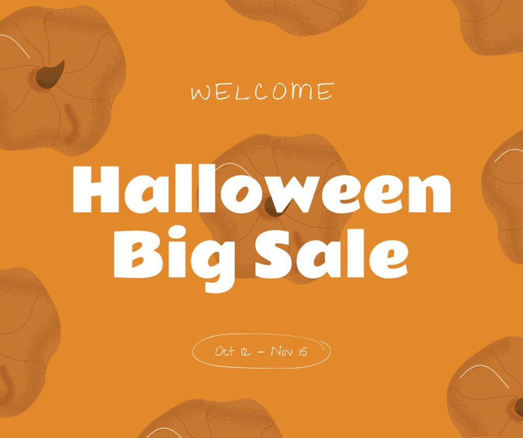 Halloween Big Sale Announcement Facebook – шаблон для дизайну