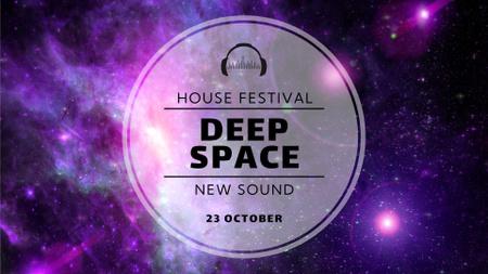 Plantilla de diseño de Music Festival Announcement with Purple Galaxy FB event cover