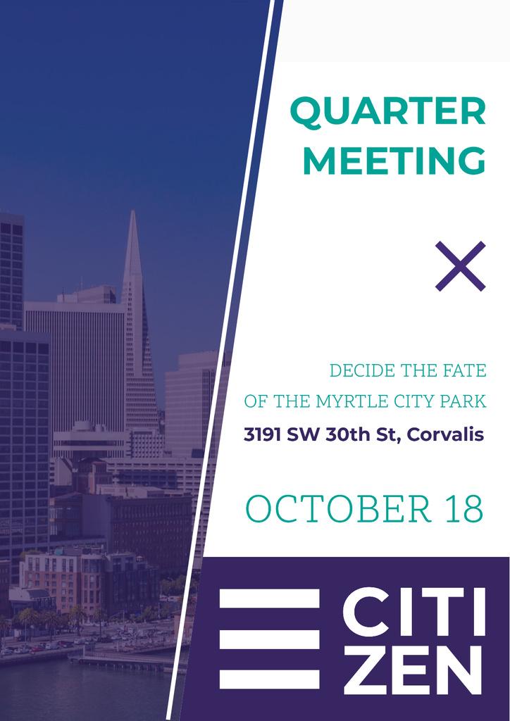 Quarter meeting announcement — Modelo de projeto