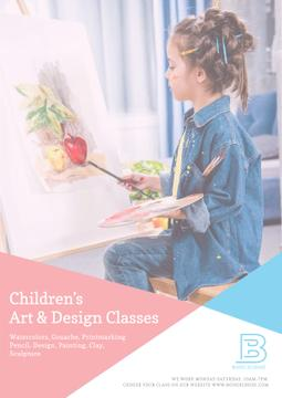 Children's art classes advertisement
