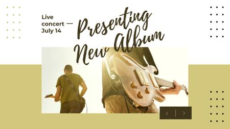 Music Concert Announcement with Man playing Guitar FB event cover – шаблон для дизайну