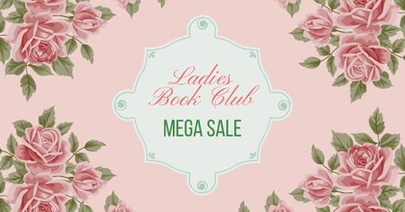 Ontwerpsjabloon van Facebook AD van Ladies Book Club Sale Offer