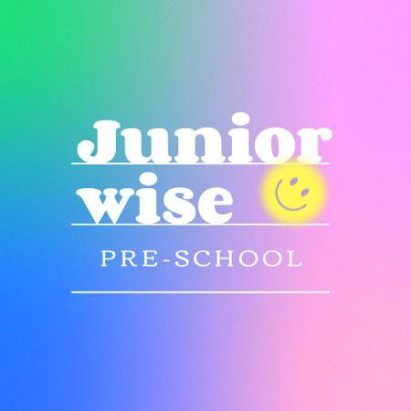 Preschool Announcement with Cute Emoji Logo – шаблон для дизайну