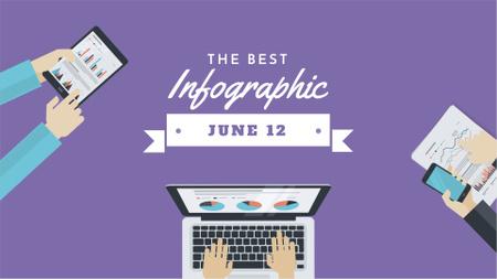 Plantilla de diseño de Business Team working on infographic FB event cover